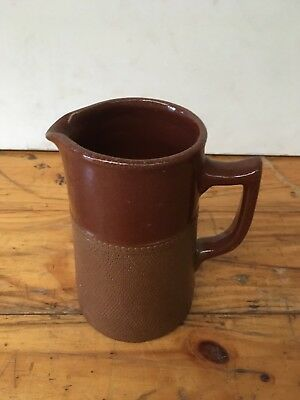 Stamped Bendigo Pottery Langley Ware 3/4 Pint Jug 13.5 Cm High