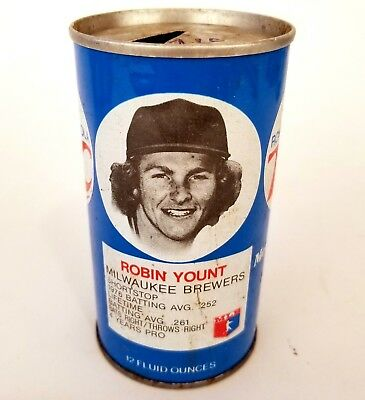 2 Royal Crown RC Cola Soda Cans of MLB Player Robin Yount 2 Diff Cans 1 wTab