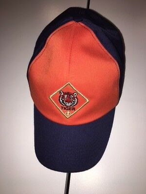 Tiger Cub SCOUT Orange & BLUE Strapback CHILD Boy BSA Hat Cap