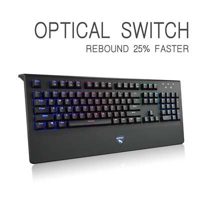 Mechanical Gaming Keyboard,Optical Axis Switch Wired USB Computer Keyboard