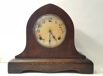 Large Antique Gilbert Mantle Clock w/key- Working