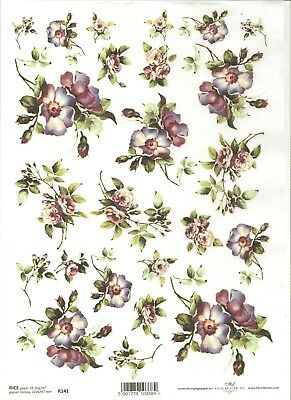Rice Paper for Decoupage Scrapbooking Easter Flowers Chickens Bow A4 ITD R289