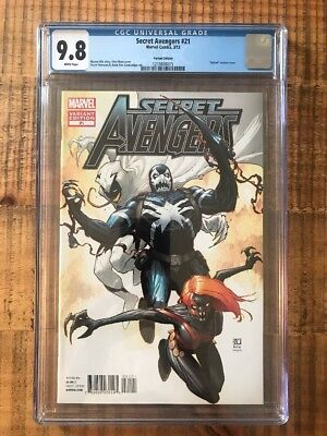 Secret Avengers #21 (Mar 2012, Marvel) Venom Variant CGC 9.8 WP