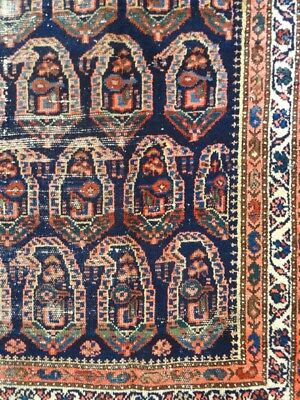 """C 1900 Malayer Antique Persian Exquisite Hand Made Rug 4' 5"""" x 6' 2"""""""