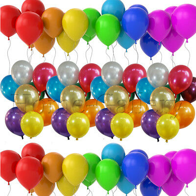 """12"""" METALLIC Pearlised High Quality LATEX BALLOONS Decoration Birthday Party"""