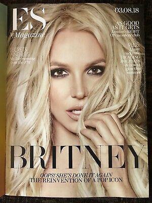 Britney Spears - Es Magazine - 03/08/2018 Issue! New! **l@@k!**