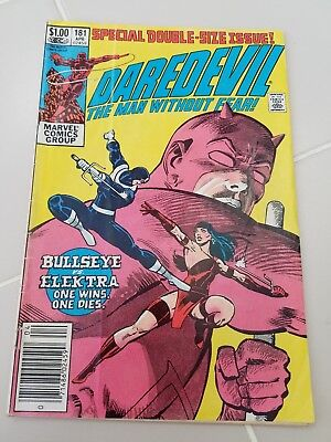 Daredevil The Man Without Fear-Death Of Elektra #181 Marvel Comic Special Double