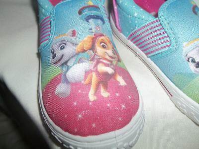 Paw Patrol Slip-On Canvas Sneaker Shoes Girls Size 12 New With Tags