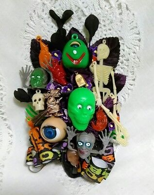 Vintage Halloween Corsage Gumball Vending Machine Charms and Tokens OOAK