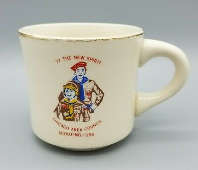 Boy Scouts Of America Coffee Cup Mug 1977 Chicago Area Council 77 The New Spirit