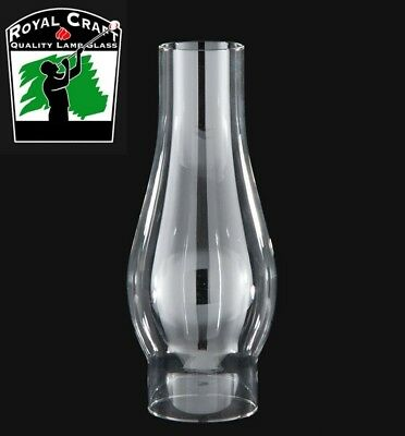 "2 5/8"" X 8 1/2"" ~ Clear Oil Lamp ~ CHIMNEY ~ BOROSILICATE GLASS  ~ #G7930"