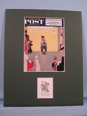 Veterinary Medicine & Veterinarians honored by Norman Rockwell painting & Stamp