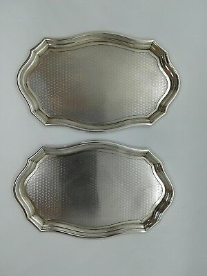 925       2 Sterling silver trays.