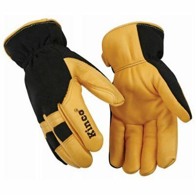 KINCO 101HK-XL Men's Lined Grain Deerskin Gloves, X-Large, Yellow/Black