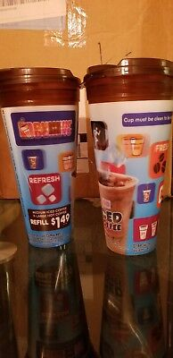 Dunkin' Donuts 3D Travel Mug Hot/Cold Coffee 24oz $1.49 Refill-New-Expired Date