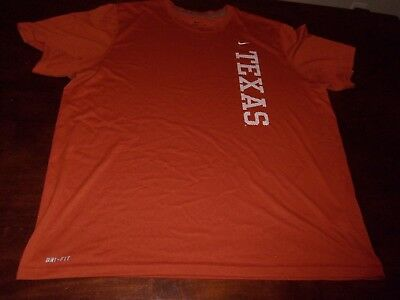Texas Long Horns used mens xxl Nike Dri Fit t shirt NCAA college football