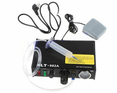 220V KLT-982A Solder Paste Glue Dropper Liquid Auto Dispenser Controller +Pedal