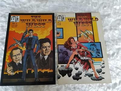 Lot of 2 1989 The Wild Wild West Issue No. 3 & 4 Comic Books Copper Age