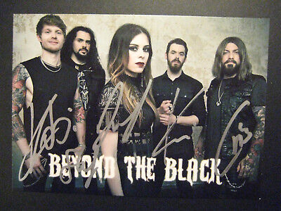 Beyond The Black  -  Hand Signed Original Autograph  - Personally Obtained
