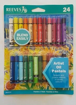 REEVES 24x Artist Oil Pastels - Clearance