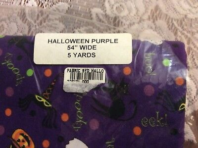 Longaberger HALLOWEEN PARTY Fabric 5 yards UNCUT NEW
