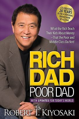 Rich Dad Poor Dad Robert T. Kiyosaki Paperback Parenting Personal Finance Eng