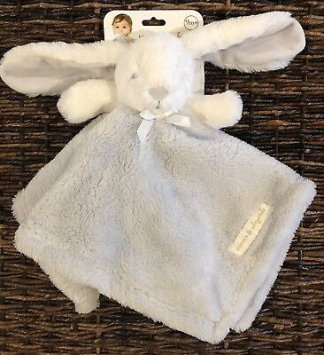 Blankets and Beyond Bunny Rabbit Gray Security Blanket Lovey Grey