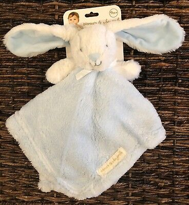 Blankets and Beyond Bunny Rabbit Blue Security Blanket Lovey