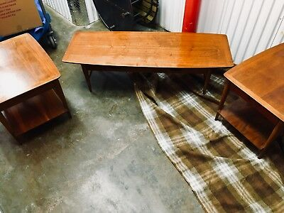 Vintage Lane Mid-Century Modern coffee table set with two end tables!