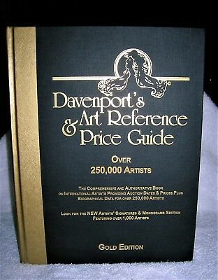 """Davenport's Art Reference & Price Guide """"gold Edition"""" Hardcover 2003 Like New"""