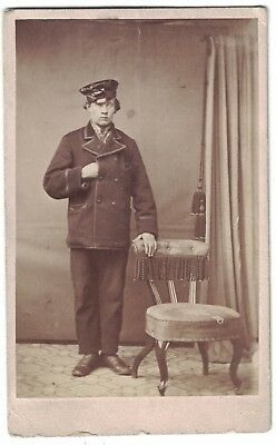 Mid 1800s CDV Photo of an Interesting Gent with hand in Jacket.