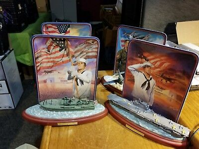 Bradford Exchange Pearl Harbor Commemorative Collection Plates (4 plates)