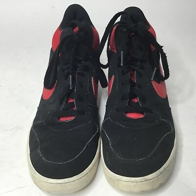 finest selection c41e2 4aa43 NIKE Court Borough Mid Black Red White Mens Sneakers Sz 10 US