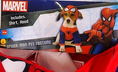 Rubies Marvel Spiderman Pet Costume Size Large New Free Shipping