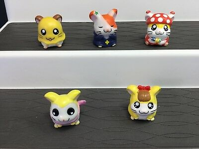 Hamtaro Fantasy Mini Figures Pencil Toppers Set of 5 Toys Hamster Gift