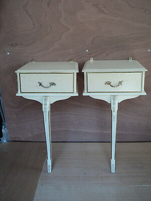 Pair of Single Leg Louis, French Style Bedside Drawers, Tables, Good solid order