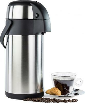 Andrew James 3L Hot Water Urn Airpot Flask Pump Action Catering Tea Coffee Event