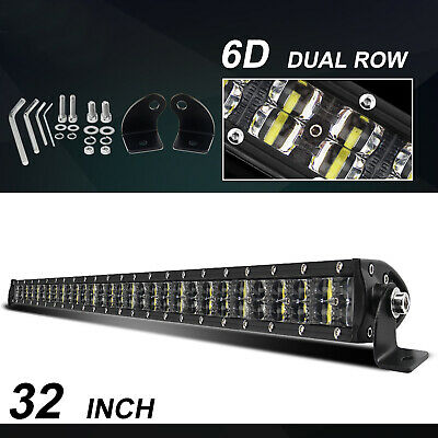 LED Light Bar 15inch Combo Beam Quad Rows Offroad Driving Lamp VS 20'' +Wiring