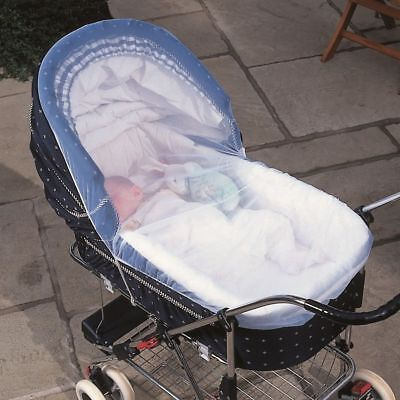 ,Clippasafe Pram & Carrycot Insect Net White Mesh Mosquito Repellent Cove Screen