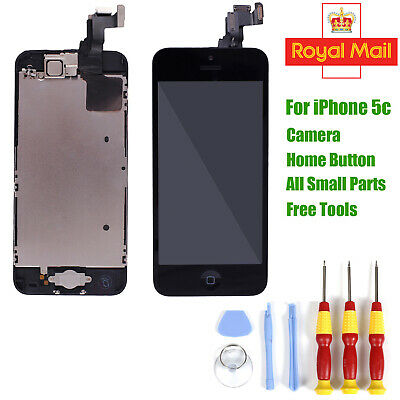For iPhone 5C LCD Touch Screen Digitizer Complete Full Replacement & Home Button