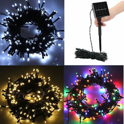 12M 100 LED Solar Power Fairy Light String Lamp Party Xmas Decor Outdoor DD