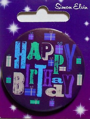 Small Birthday metal badge with clip, various themes, party, Simon Elvin, new