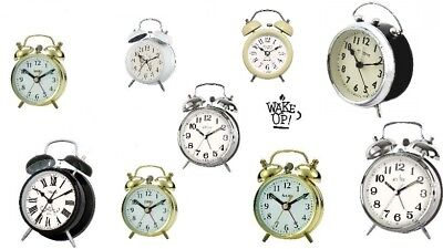 Acctim Wind Up Double Bell Alarm Clocks & Other Bell Battery Operated Clocks