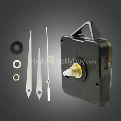 Quartz Clock Black Color Movement Mechanism Repair DIY Tool Kits White Hands