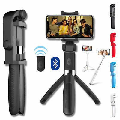 Extendable Selfie Stick Monopod Tripod Bluetooth Remote Control For Mobile Phone