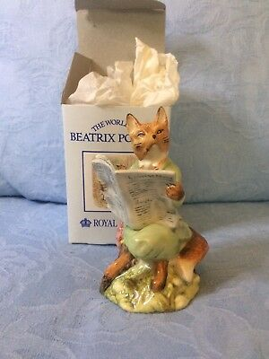 Royal Albert Beatrix Potter Figurine Foxy Reading (boxed)