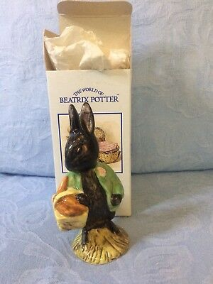 Royal Albert Beatrix Potter Figurine Little Black Rabbit (boxed)