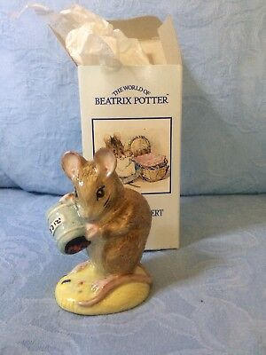 Royal Albert Beatrix Potter Figurine Hunca Munca Spills the Beads (boxed)