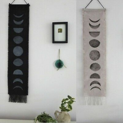 Wall Art Gifts Moon Phase Lunar Display Wall Hanging Tapestry Home Living Decor