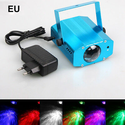 Remote Rgb Led Water Wave Ripple Projector Light Ktv Party Stage Disco Lamp Nice
